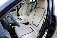 2012 Jaguar XF Supercharged front seats