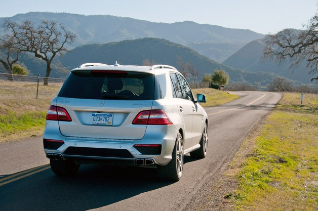 2012 Mercedes-Benz ML63 AMG rear 3/4 view