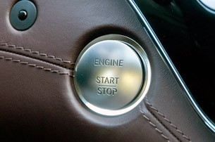 2012 Mercedes-Benz S63 AMG start button