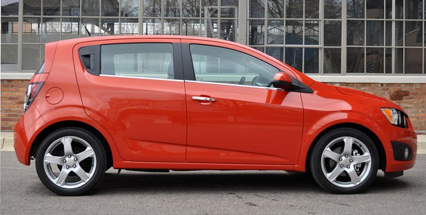 2012 Chevrolet Sonic LTZ side view