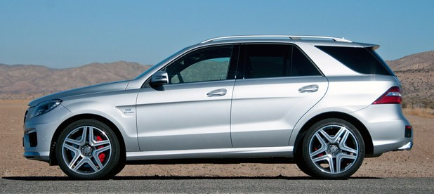 2012 Mercedes-Benz ML63 AMG side view