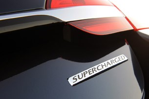 2012 Jaguar XF Supercharged badge