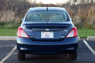 2012 Nissan Versa Sedan rear view