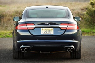 2012 Jaguar XF Supercharged rear view