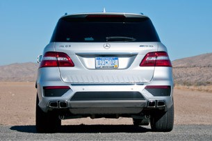 2012 Mercedes-Benz ML63 AMG rear view