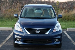 2012 Nissan Versa Sedan front view
