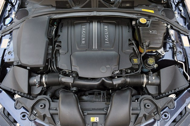 2012 Jaguar XF Supercharged engine
