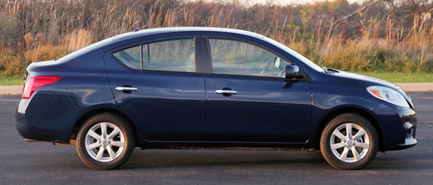 2012 Nissan Versa Sedan side view