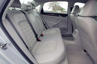 2012 Volkswagen Passat rear seats