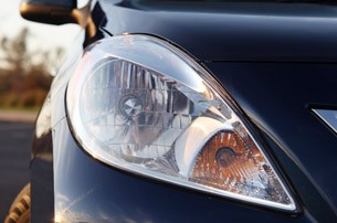 2012 Nissan Versa Sedan headlight