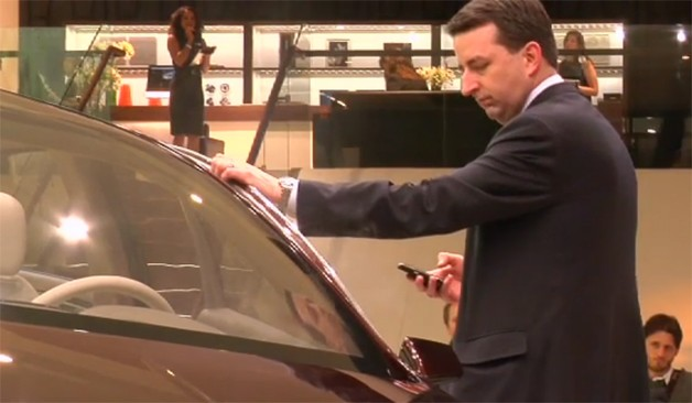 Lincoln MKZ Concept smoking screen capture