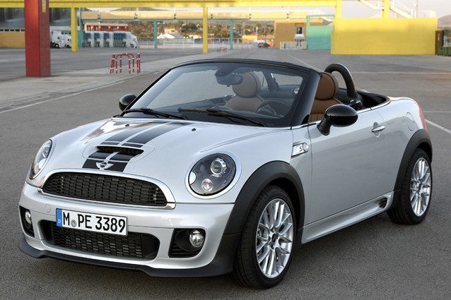 2012 Mini Cooper Roadster, top down