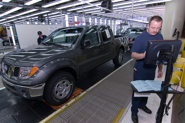 Nissan Frontier at the Smyrna Tennessee plant