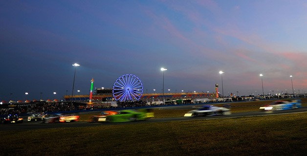 Rolex 24 Hours of Daytona at sunset