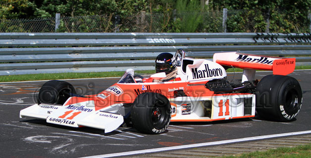 James Hunt's No. 11 McLaren on Nurburgring