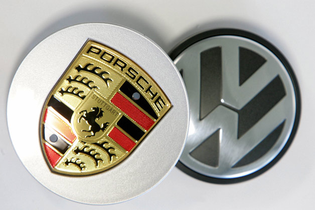 Porsche and Volkswagen emblems