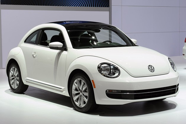of its new but not new beetle at the chicago auto show today and