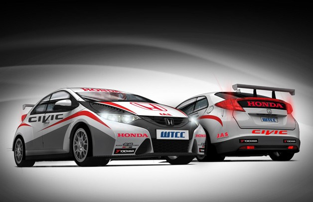 Honda WTCC Civic racer renderings - Official