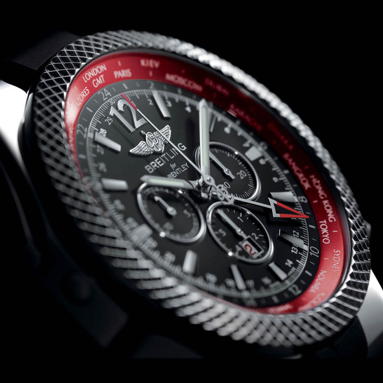breitling celebrates new continental gt with gmt v8 chronograph. Cars Review. Best American Auto & Cars Review