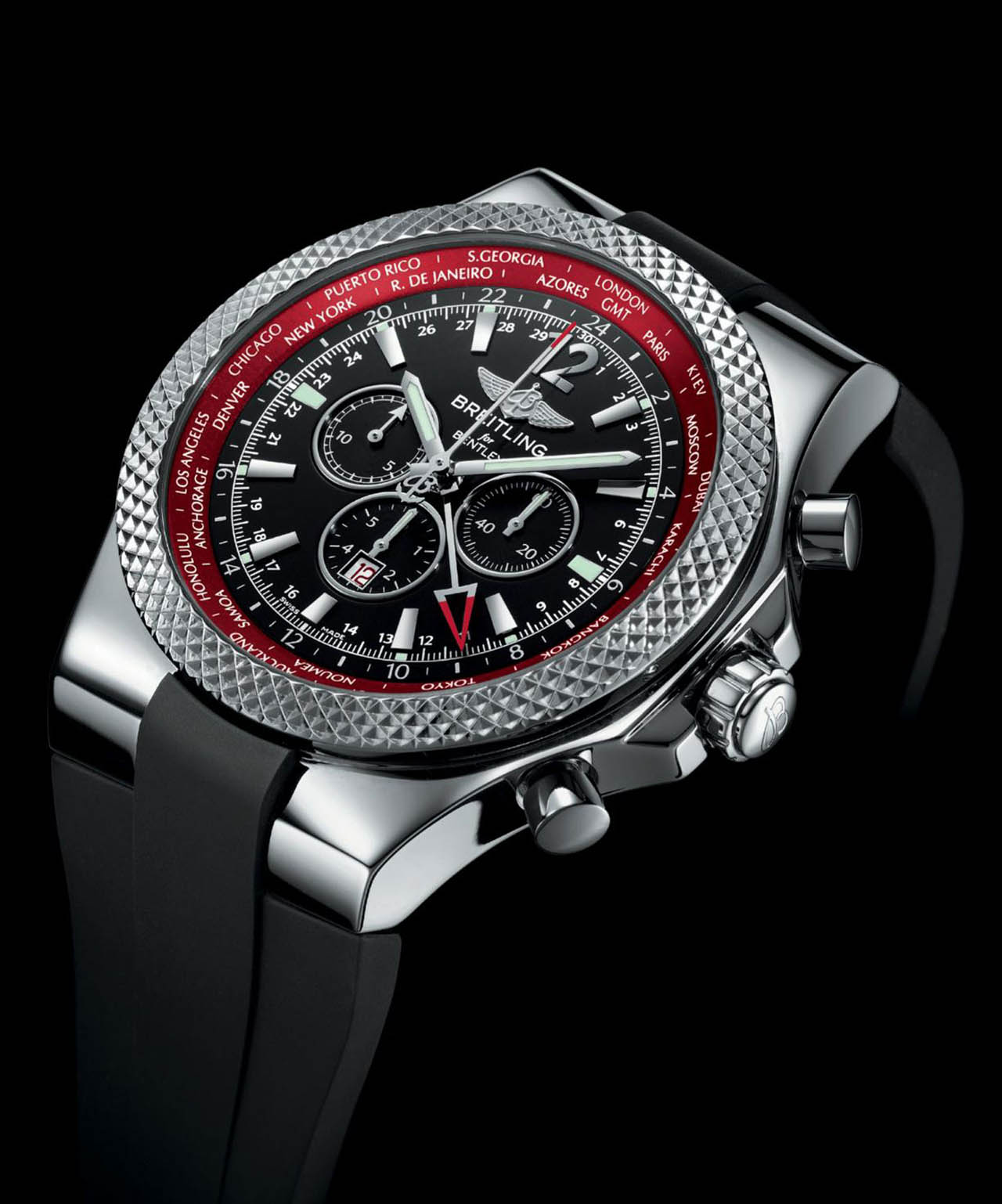 Breitling Bentley Gt Wristwatches: Breitling Celebrates New Continental GT With GMT V8