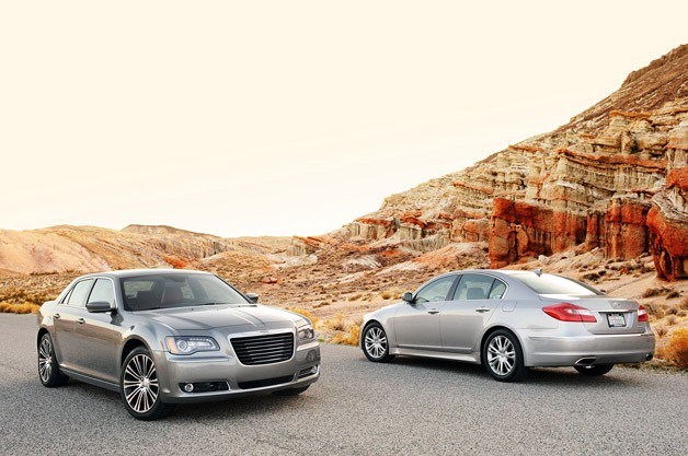 2012 Chrysler 300 S and 2012 Hyundai Genesis sedans