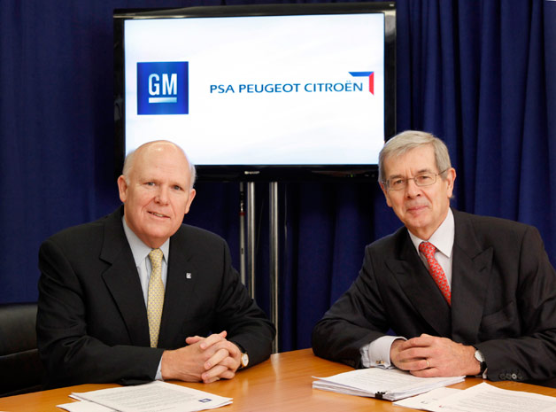 General Motors and PSA Peugeot Citroen executives