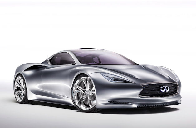Infiniti E-merge concept, front three-quarter view