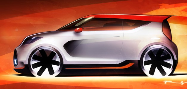 Kia Track'ster concept teaser for Chicago Auto Show