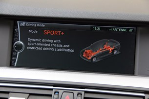 2012 BMW M550d xDrive driving mode display