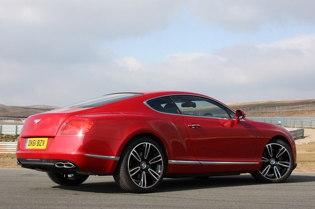2013 Bentley Continental GT V8 rear 3/4 view