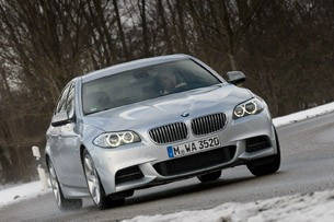 2012 BMW M550d xDrive driving
