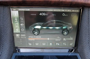 2012 Fisker Karma energy flow display
