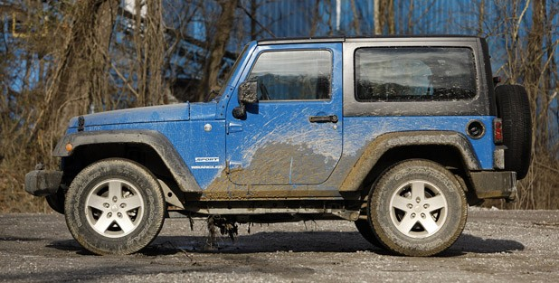 2012 Jeep Wrangler Sport side view