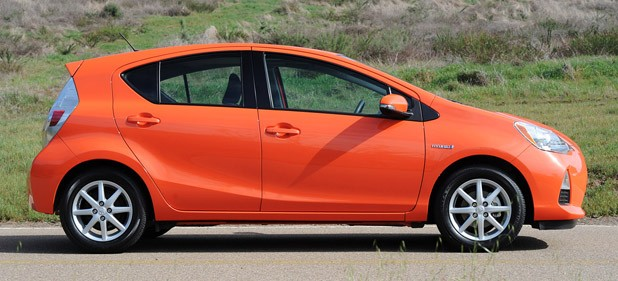 2012 Toyota Prius C side view
