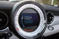 2012 Mini Cooper S Roadster mission control display