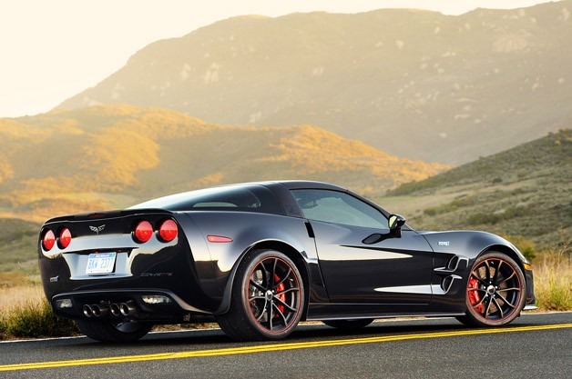 2012 Chevrolet Corvette ZR1 rear 3/4 view