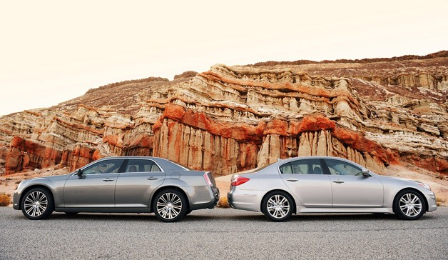 2012 Chrysler 300 S vs 2012 Hyundai Genesis