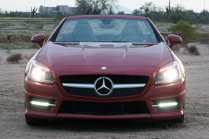2012 Mercedes-Benz SLK350 front view
