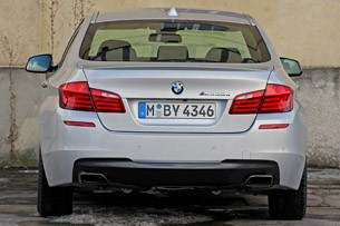 2012 BMW M550d xDrive rear view