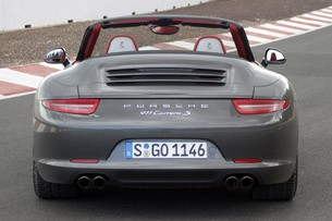 2012 Porsche 911 Cabriolet rear view