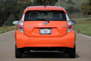2012 Toyota Prius C rear view