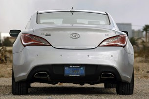 2013 Hyundai Genesis Coupe rear view