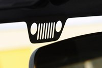 2012 Jeep Wrangler Sport windshield banner