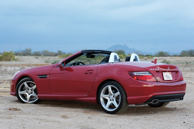 2012 Mercedes-Benz SLK350 rear 3/4 view