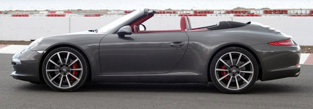 2012 Porsche 911 Cabriolet side view