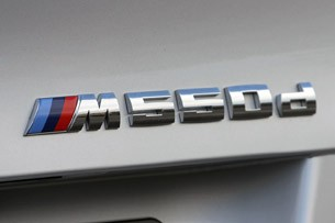 2012 BMW M550d xDrive badge