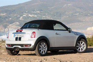 2012 Mini Cooper S Roadster rear 3/4 view