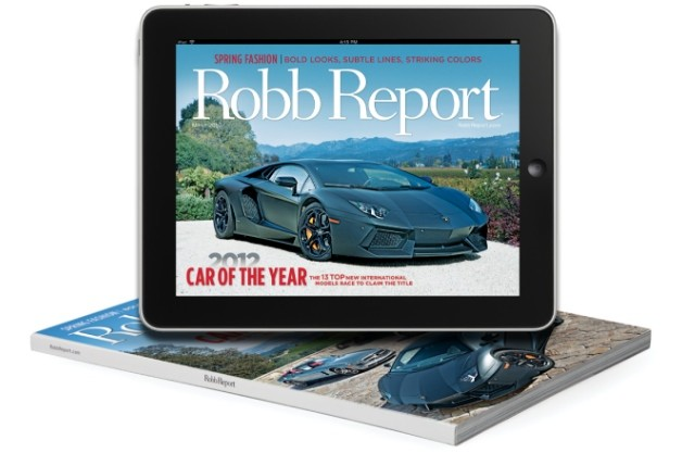 Robb Report 2012 Car of the Year