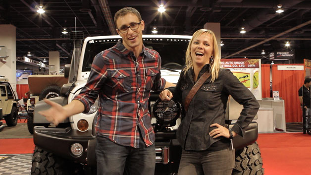 Patrick McIntyre and Jessi Combs of The List at SEMA