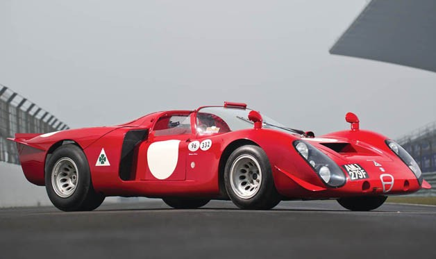 1968 Alfa Romeo T33/2 Daytona racing to a auction retard in Monaco